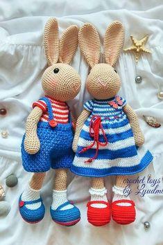 Free Amigurumi Pattern: Cute Friendly Animals New 2019 – Page 29 of 41 – eeasyknitting. com Free Amigurumi Pattern: Cute Friendly Animals New 2019 – Page 29 of 41 – eeasyknitting. Knitted Bunnies, Knitted Dolls, Crochet Dolls, Amigurumi Doll Pattern, Crochet Bunny Pattern, Doll Patterns Free, Crochet Patterns Amigurumi, Little Cotton Rabbits, Easter Crochet