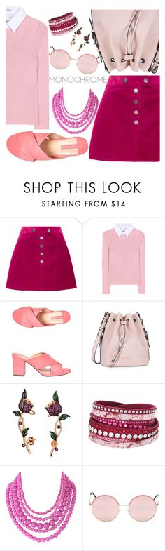 """50 Shades of PINK #pinkskirt #pinkblouse #pinkbag #pinkmules #pinkassesories"" by ruelalou on Polyvore featuring Courrèges, Altuzarra, Dorothy Perkins, Armani Jeans, Bling Jewelry, Swarovski, Humble Chic and Vans"