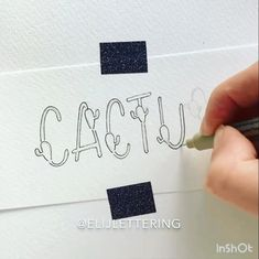 me (Worldwide Tracked Shipping) - Cactus Hand Lettering Art, Creative Lettering, Calligraphy Handwriting, Calligraphy Letters, Modern Calligraphy, Bullet Journal Ideas Pages, Bullet Journal Inspiration, Ramadan, Leaves Doodle