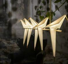 moderne-leuchten-origami-designerlampen-vögel-pendelleuchten