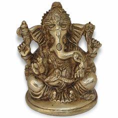 Snake Belt Ganesha Religious Statues Handmade Brass Gift India
