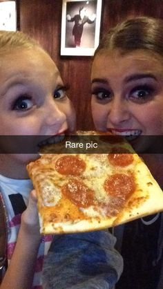 Having some pizza! And a sleepover! Anyone else wanna come? - Kalani and Brynn