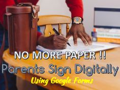 Quick tutorial on Google Forms to collect parent signatures for those Back to School forms digitally.  Great timesaver!!