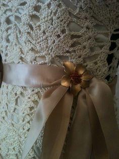 Crocheted Wedding Dress/Evening Gown от lovepetals на Etsy, $750.00