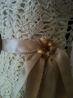 I love this! Crocheted Wedding Dress/Evening Gown by lovepetals.etsy.com