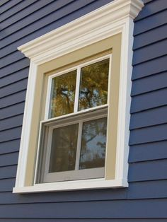 house color too. Exterior Window Trim Design Ideas, Pictures, Remodel, and Decor - page 4 Exterior Window Molding, Exterior Door Trim, Exterior House Colors, Exterior Windows, Traditional Exterior, Modern Exterior, Exterior Design, Craftsman Exterior, Grey Exterior