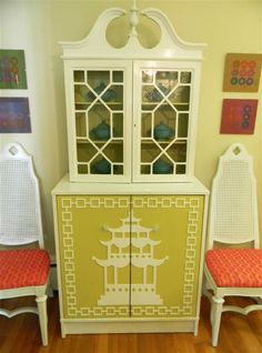 Overlays...love, love that you can custom design old or new furniture...think of the possibilities!