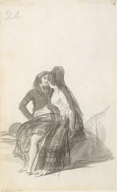 Lovers Sitting on a Rock, Francisco de Goya y Lucientes, c. 1769