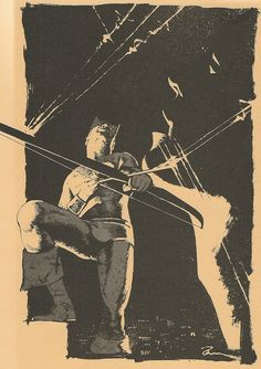 Hawkeye, by a young Dave McKean, from 1985's Arken Sword #15.