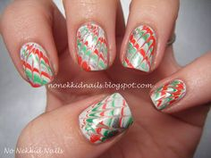 No Nekkid Nails: Christmas Needle Marble