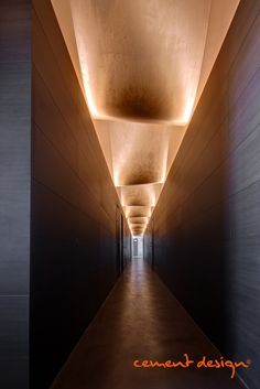 Cement Design at Brera Design District - sandra pins Corridor Lighting, Cove Lighting, Linear Lighting, Modern Lighting, Hotel Hallway, Hotel Corridor, Ceiling Detail, Ceiling Design, Lobby Interior