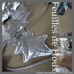 Guirlande de Noël en feuilles de houx (métal à repousser) ©Que cache ma boîte à belette