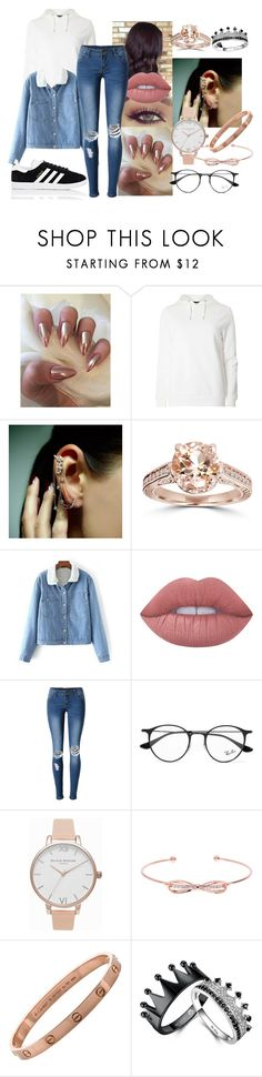 """""""Untitled #701"""" by elliepetkova ❤ liked on Polyvore featuring Dorothy Perkins, Mike Saatji, Bliss Diamond, Lime Crime, WithChic, Ray-Ban, Olivia Burton, Ted Baker and adidas"""