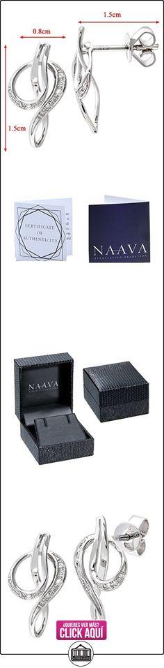 Boucles d'oreilles - DE1125W - Pendientes de mujer de oro blanco (9k) con 22 diamantes  ✿ Joyas para mujer - Las mejores ofertas ✿ ▬► Ver oferta: https://comprar.io/goto/B005QX8SH8