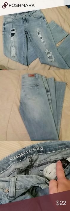 NWOT ALMOST FAMOUS distressed skinny  jeans Love these jeans!  NWOT almost famous distressed skinny jeans Almost Famous Jeans Skinny