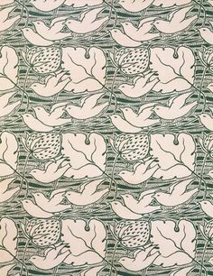 Furnishing fabric, by C.F.A.Voysey, for Newman, Smith & Newman. Cotton. England, 1897.