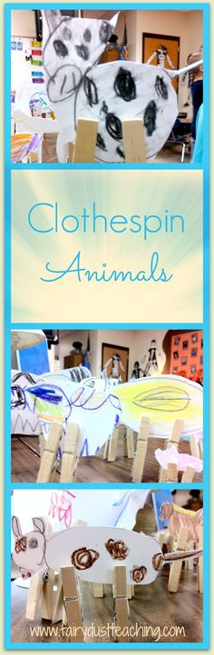 Learn how to make clothespin animals @ Fairy Dust Teaching!