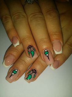"""Capture de reves"" #frenchnails #combination #indian"