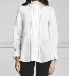 Try a white button-down with a colonial collar.