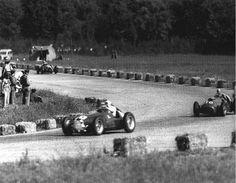 Nini Farina on his way to winning the 1950 Italian Grand Prix driving an Alfa Romeo 158.