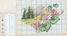 prima zi: diagrame goblen - lunile anului Cross Stitch House, Cross Stitch Charts, Cross Stitch Designs, Cross Stitch Patterns, Cross Stitch Landscape, Cross Stitch Flowers, Le Point, Four Seasons, Needlepoint