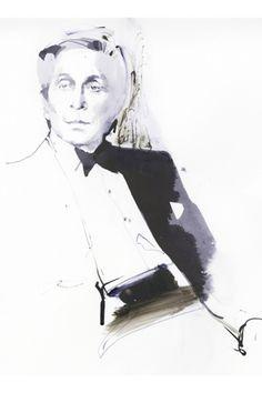 David Downton illustrates Valentino