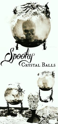 Learn how to make these spooky crystal balls and other scary decorations using Dollar Tree Halloween items. #ad #DollarTree