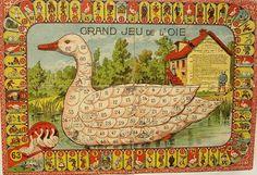Grand Jeu de l'Oie1900 Percorso di 63 caselle numerate Saussine Editeur Francia-Parigi XX secolo (1°/4)