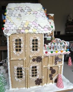 Steampunk gingerbread house for the providence festival of trees