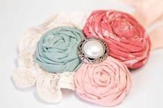 Cute headband with fabric roses
