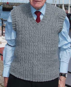 Howth Vest. Like this stitch pattern, shape of vest needs some tailoring.