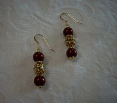 Earrings Made with Crystal Pearls  2015 Year Color