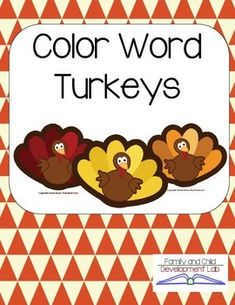 Match colored feathers to turkeys with written color words. This literacy center game gives students multiple opportunities to read color sight words. If you enjoy this resource check out my other Thanksgiving Products: November Kindergarten Activities, Classroom Activities, Classroom Ideas, Colors For Toddlers, Early Childhood Activities, Thanksgiving Preschool, Halloween Activities, Word Families, Literacy Centers