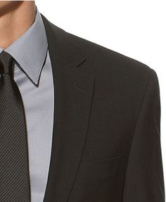 Kenneth Cole New York Suit, Black Solid Slim Fit - Mens Blazers & Sport Coats - Macy's
