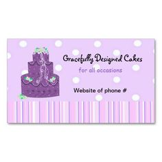 Pink white polka dot designer cakes business card cake business pink white polka dot designer cakes business card cake business designer cakes and business cards reheart Choice Image