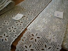 Antique embroideries of pure fine cotton trim by ToLacewithLove