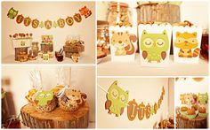 Forest Friends baby shower details by Pinwheel Lane on etsy