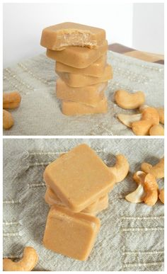 Maple Cashew Freezer Fudge. 5 ingredients in this melt in your mouth healthy treat!