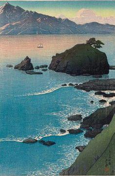 Kude Beach in Wakasa Province  -  Kawase HasuiJapanese, 1883–1957