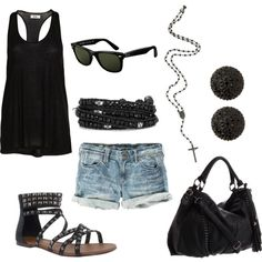 Black, created by jessicamueller on Polyvore