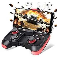 BEBONCOOL Android Wireless Game Controller with Clip for Android Phone/Tablet/Samsung Gear VR/Game Boy Emulator, Compatible with Bluetooth (Blue) Phone Games, Vr Games, Video Games, Game Boy, Game Controller, Bluetooth, 12 Year Old Boy, Gaming Headset, Best Phone