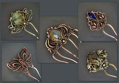 Inspiration - gorgeous wire work! Especially love the piece in the upper left corner ... reminds me of a Lotus flower.