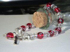 Czech Lamp Worked Glass Bead and Swarovski Crystal by Baublebys, $45.00
