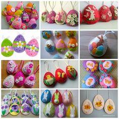 húsvét filcanyag filcdísz húsvéti dísz húsvéti tojás Easter Crafts, Felt Crafts, Diy And Crafts, Crafts For Kids, Easter Tree, Easter Eggs, Felt Pouch, Felt Patterns, Easter Holidays