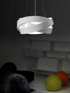 Pura_bianca_01 Origami Lampshade, Home Diy, Pendant Lighting, Lamp Design, Lamp, Simple House, Light Shades, Futuristic Lighting, Diy Pendant Light