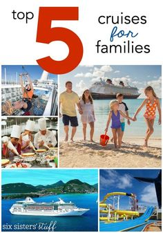 The Top 5 Cruise Lines and Destinations for Families on SixSistersStuff.com    With three of the six of us having kids, we wanted to be sure to find a ship and cruise destination that was family friendly. Here are our top 5 picks for an amazing family vacation!