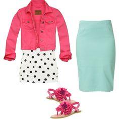 Pink, black N' white polka dots, and mint CUTE