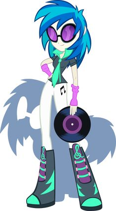 equestria girls | Equestria Girls - DJ Pon3 aka Vinyl Scratch by ~Rariedash on ...