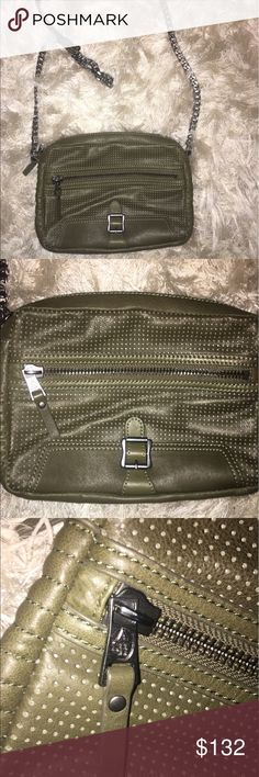 NWOT Leather Ash Crossbody Bag Like new, this army green crossbody Ash bag features dark silver hardware. 100% genuine leather. Lots of compartment space inside. Comes with original dustbag. Ash Bags Crossbody Bags