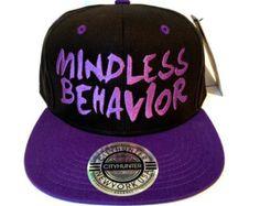 Mindless Behavior Snapback Hat Cap Snap Back by urfashionistas Snapback Hats, Beanie Hats, Beanies, Mindless Behavior, Dope Hats, Flat Bill Hats, Purple Love, Flat Cap, Summer Hats